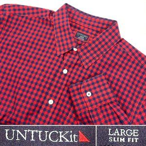 UNTUCKit Slim Fit Men's Sz Large Long Sleeve Shirt